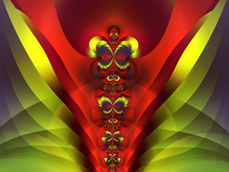 Fractal Art Wallpaper, Totem