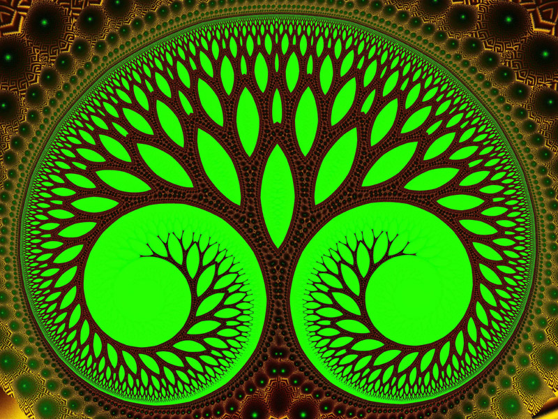 Fractal Art Wallpaper Tree 2