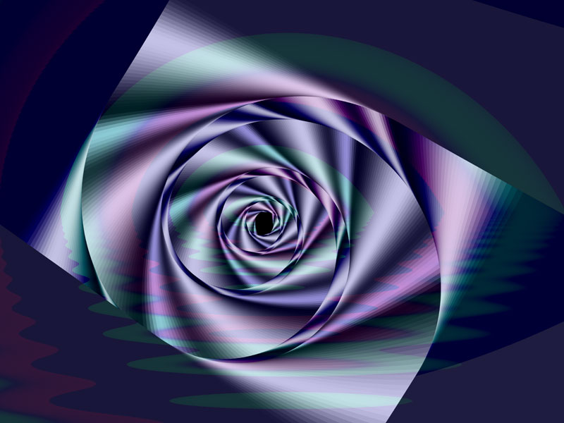 Fractal Art Wallpaper, Water Rose