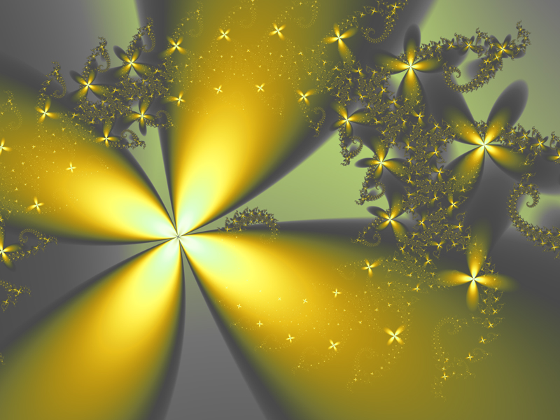Fractal Art Wallpaper, Yellow